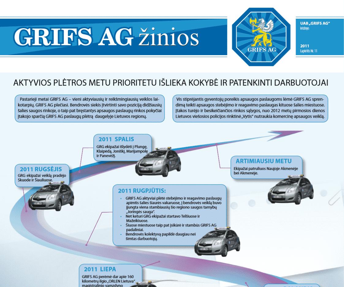"""UAB """"Grifs AG"""" leidinys 2011 Lapkritis Nr. 11"""