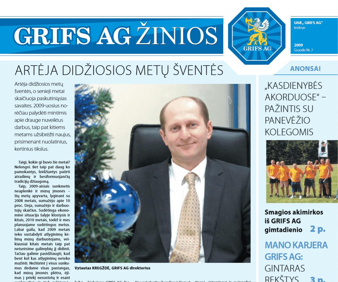 """UAB """"Grifs AG"""" leidinys 2009 Liepa Nr. 7"""