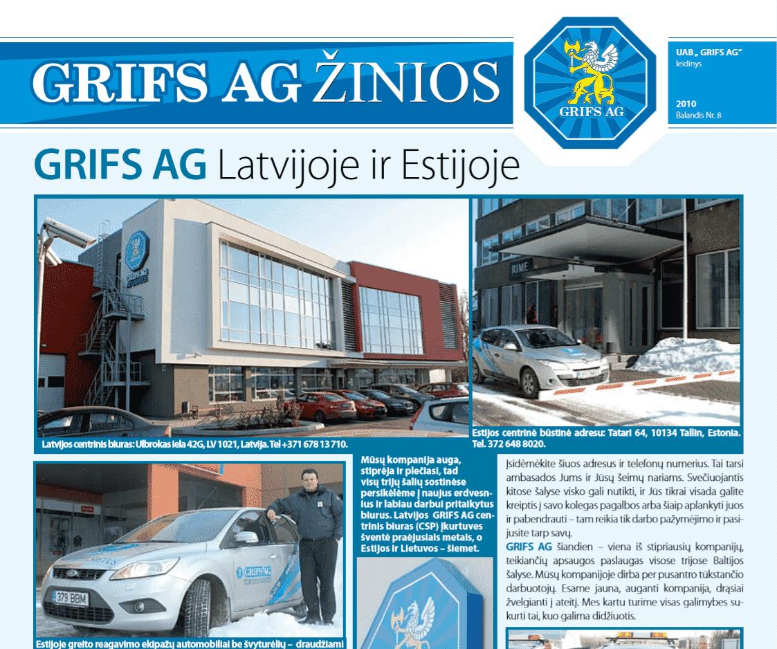 "UAB ""Grifs AG"" leidinys 2010 Balandis Nr. 8"